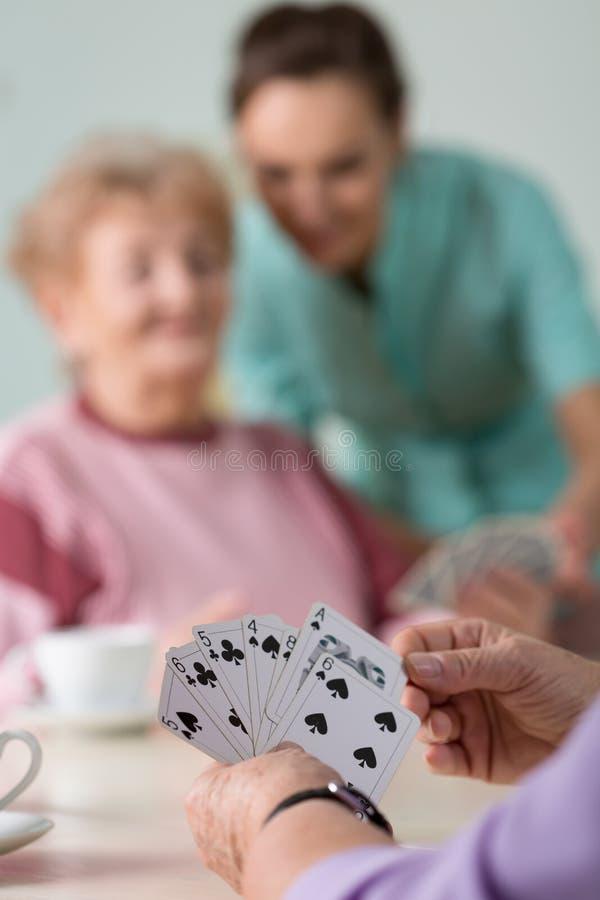 Конец-вверх карточной игры стоковое изображение rf