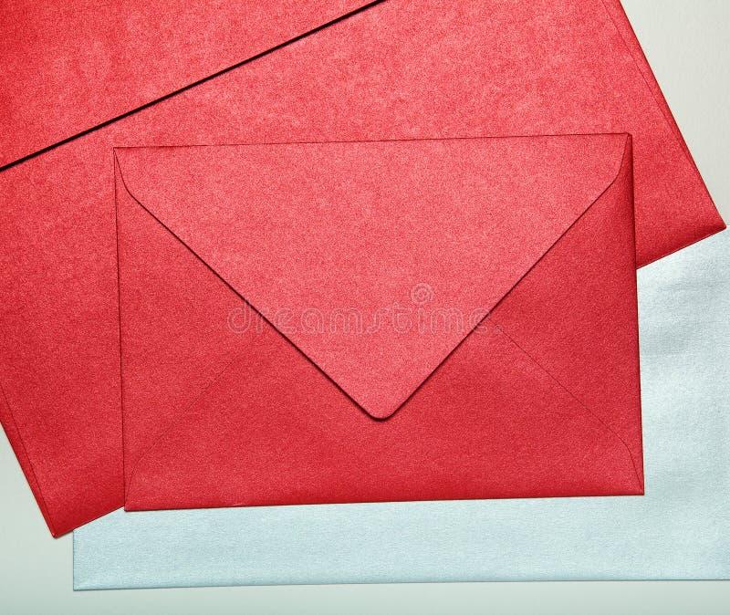 Конец-вверх конвертов. стоковое фото