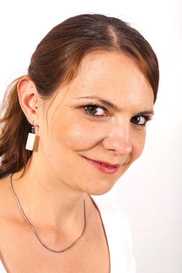 Download Конец-вверх красивой молодой женщины в Studion Стоковое Фото - изображение насчитывающей одно, backhoe: 40578496