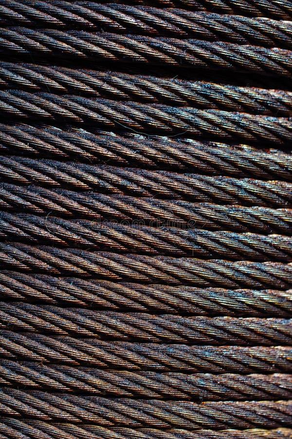 Конец-вверх крена провода металла Картина кабелей стоковые изображения
