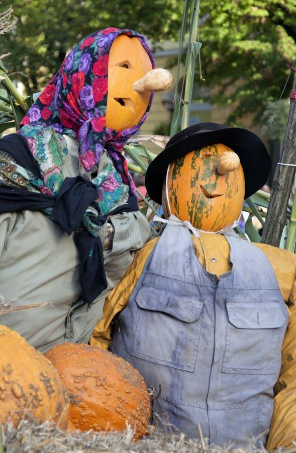Конец-вверх куклы хеллоуина головного чучела стоковая фотография rf