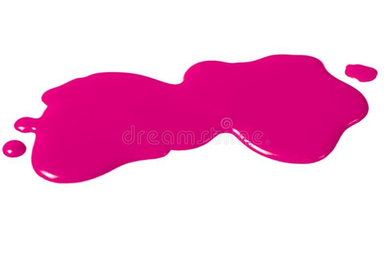 Конец-вверх маникюра помарками розовый, изолированный на белой предпосылке, модная абстракция стоковое фото rf