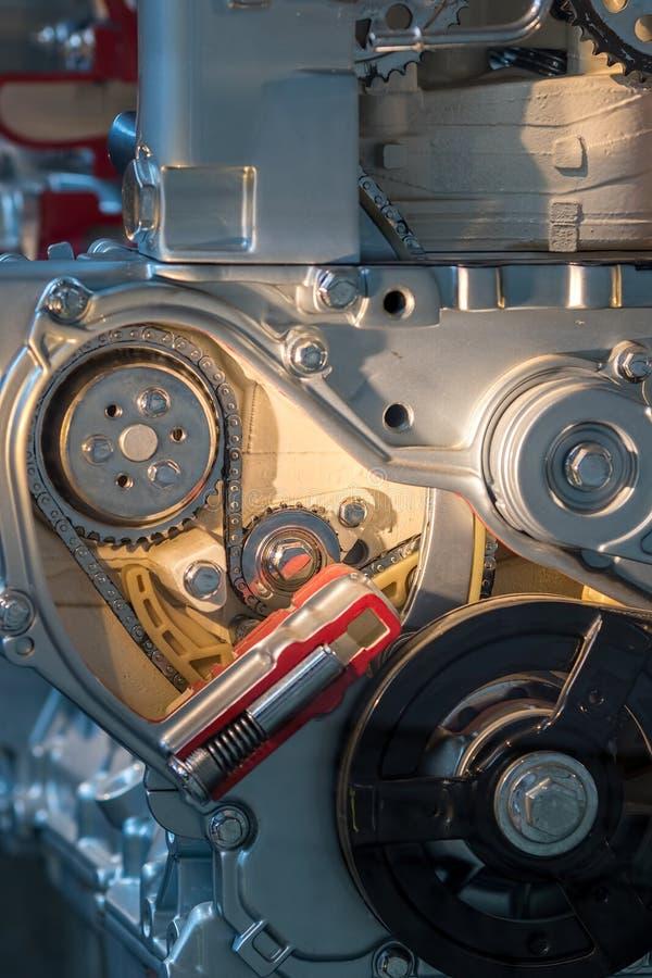 Конец-вверх машинных частей Backgroun машиностроения абстрактное стоковое фото