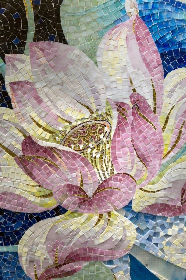 Конец-вверх мозаики лотоса стоковые фото