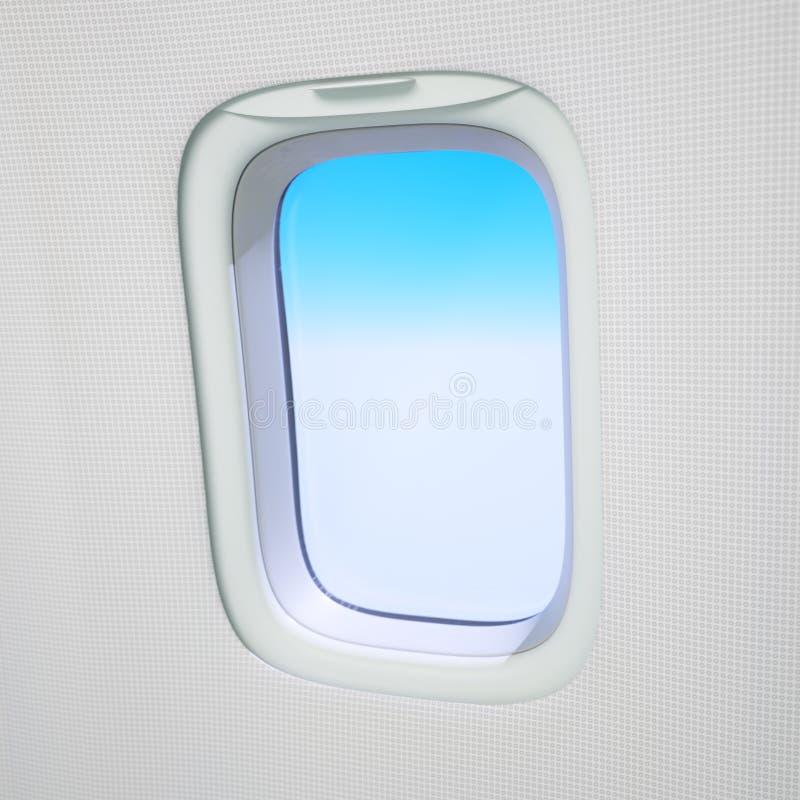 Конец-вверх окна самолета стоковая фотография rf