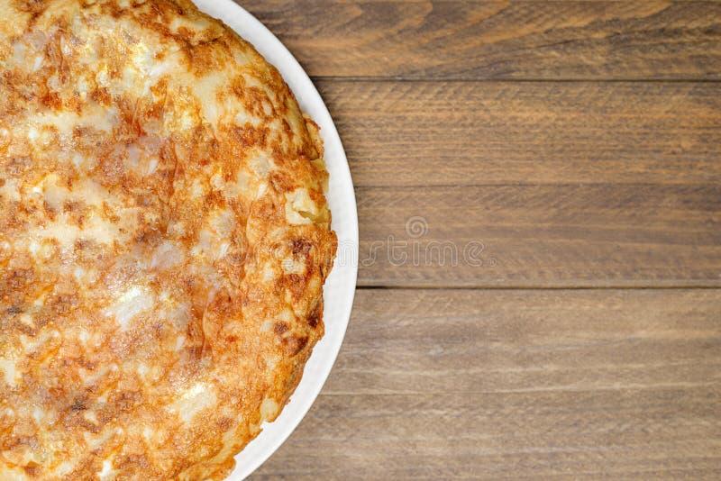 Конец-вверх омлета картошки Испанская еда стоковое фото rf