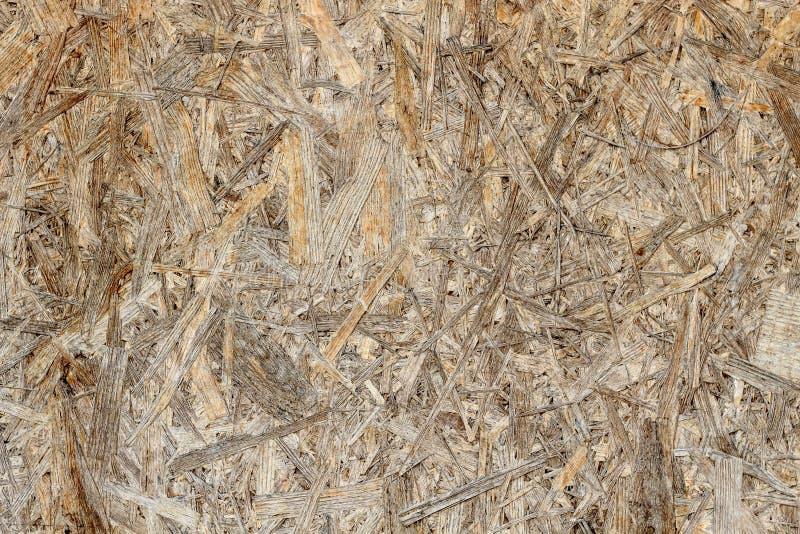 Конец вверх отжал деревянную предпосылку панели, безшовную текстуру ориентированной доски стренги стоковые изображения rf