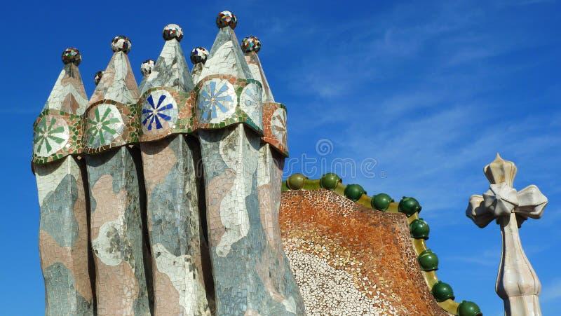 Конец-вверх печной трубы в ³ Batllà Касы в Барселоне (Испания) стоковая фотография