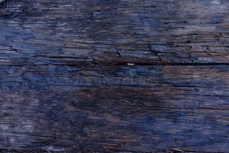 Конец-вверх поверхности швырка с старой естественной картиной, темной древесиной стоковая фотография