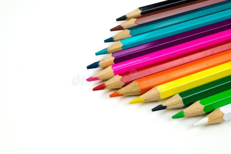 Конец-вверх покрашенных карандашей стоковое фото