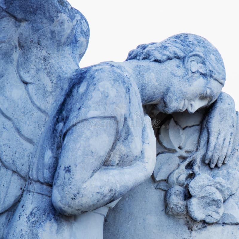 Конец вверх по грустному символу ангелов смерти r стоковое изображение
