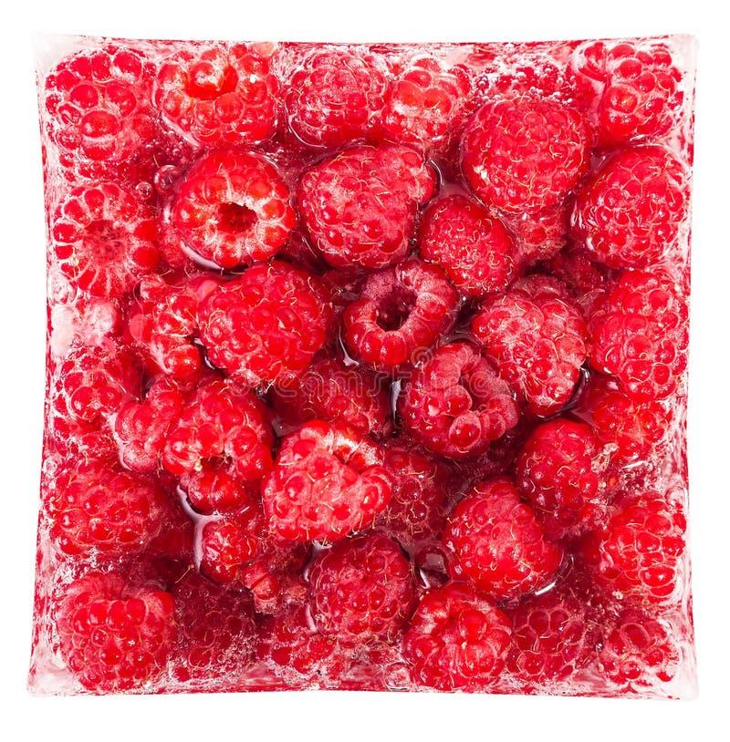 Download Конец-вверх поленики в кубе льда Стоковое Фото - изображение насчитывающей плодоовощ, красно: 41658512