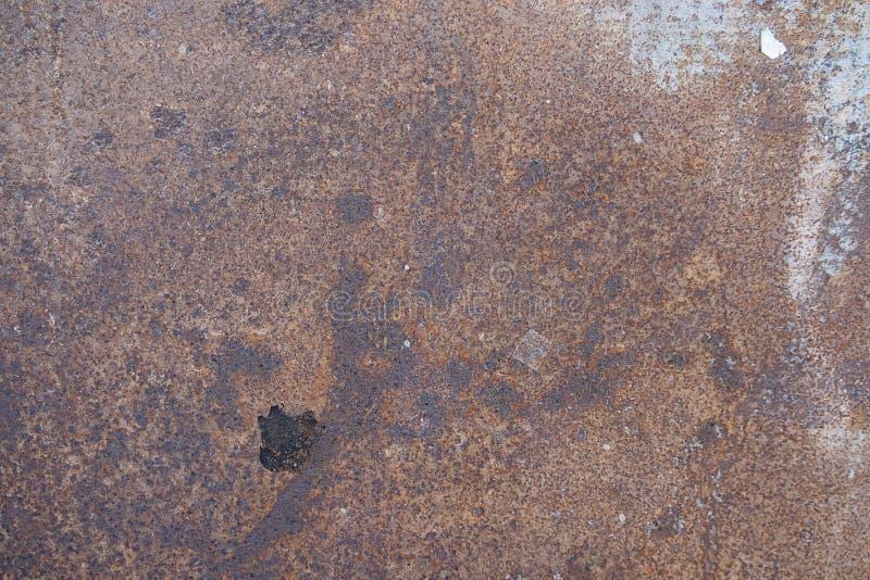 Конец вверх по ржавчине на поверхности старого утюга, старой стальной предпосылке конспекта доски металлического листа стоковая фотография rf