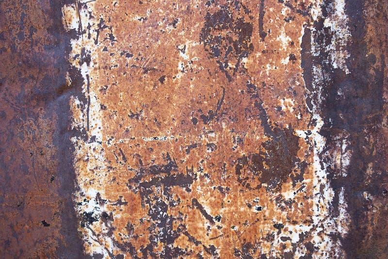Конец вверх по ржавчине на поверхности старого утюга, старой стальной предпосылке конспекта доски металлического листа стоковое фото