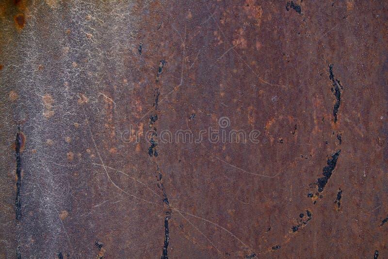 Конец вверх по ржавчине на поверхности старого утюга, старой стальной предпосылке конспекта доски металлического листа стоковое изображение rf