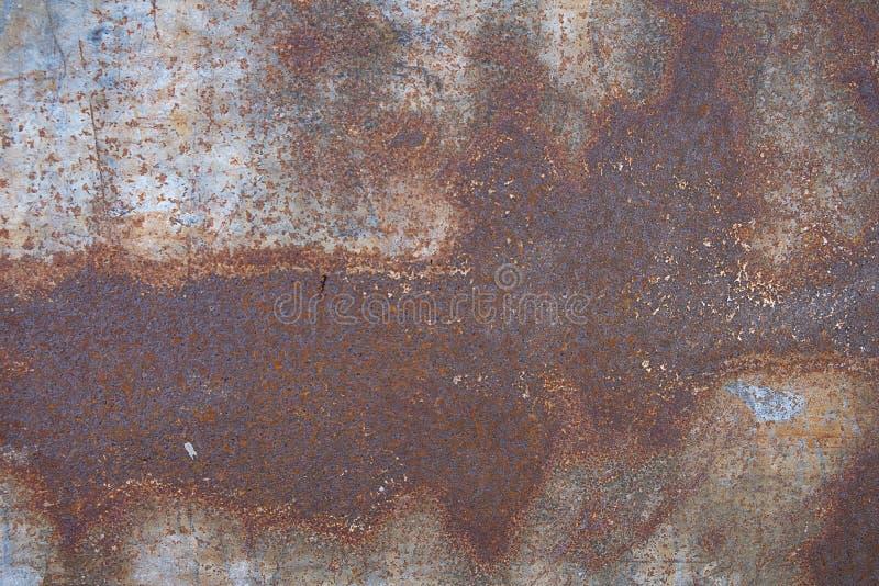 Конец вверх по ржавчине на поверхности старого утюга, старой стальной предпосылке конспекта доски металлического листа стоковые фотографии rf