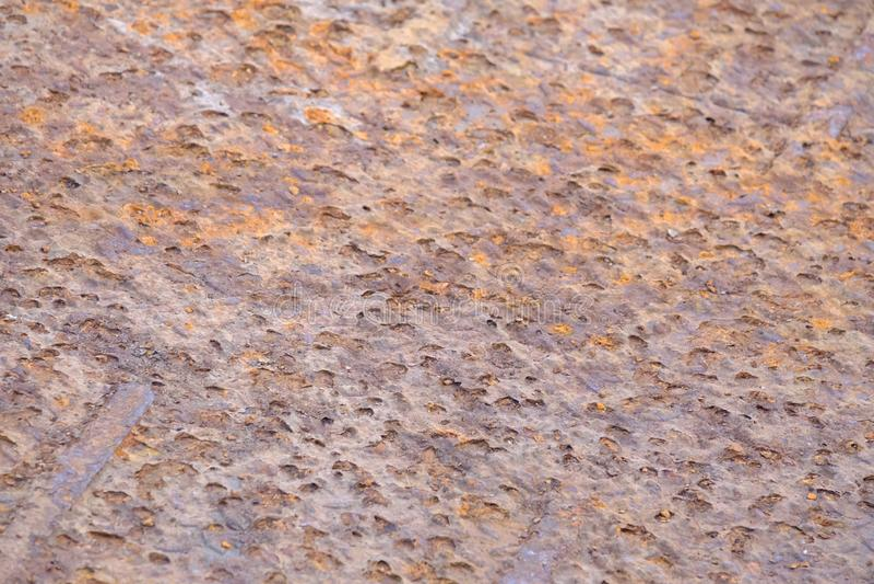 Конец вверх по старому ржавому металлическому листу для картины предпосылки стоковая фотография rf