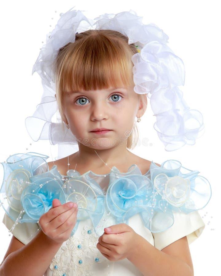 Конец-вверх принцессы маленькой девочки стоковое фото