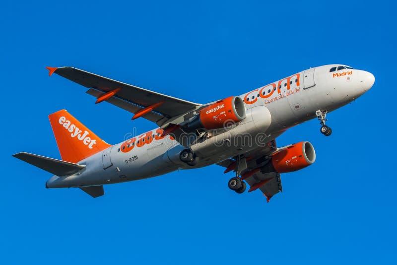 Конец-вверх самолета Easyjet стоковое изображение
