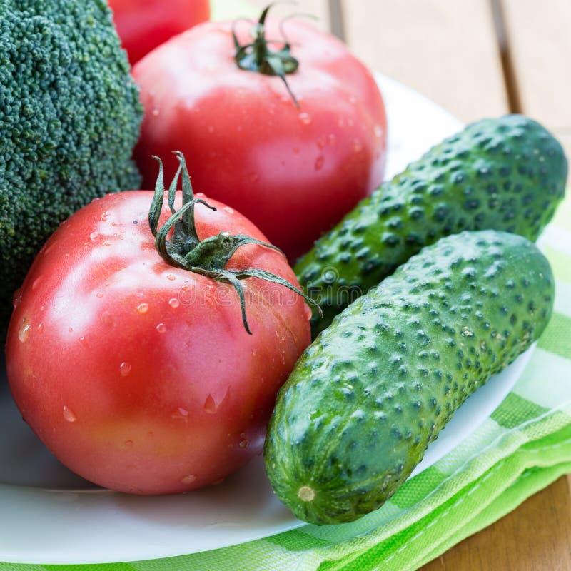 Конец-вверх свежих сырцовых овощей стоковые фото