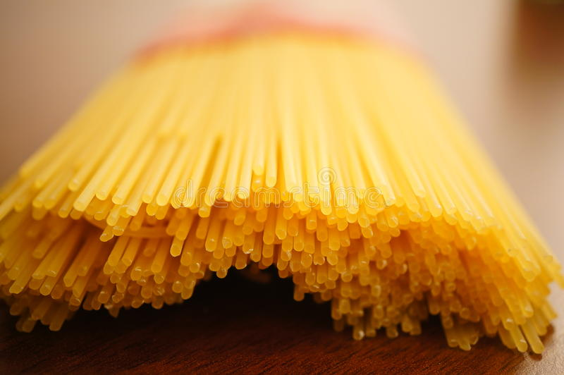 Конец-вверх спагетти стоковое изображение rf
