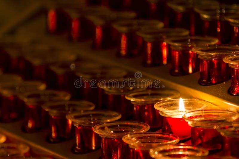 Конец-вверх теплой свечи освещения стоковые изображения rf