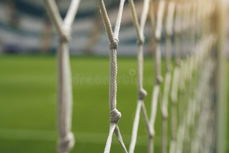 Конец-вверх цели футбола чистый стоковые фото
