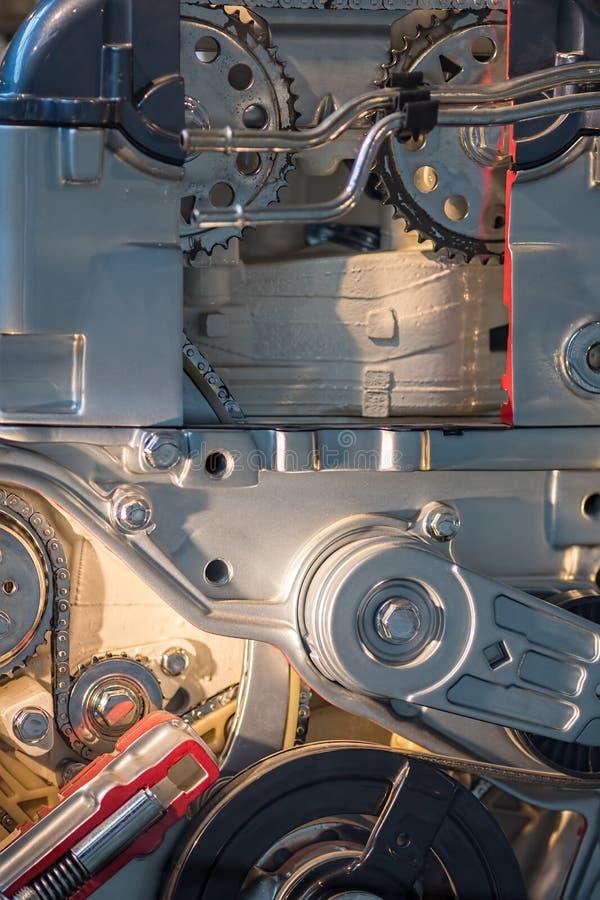 Конец-вверх элементов двигателя Наука машиностроения и t стоковые фотографии rf
