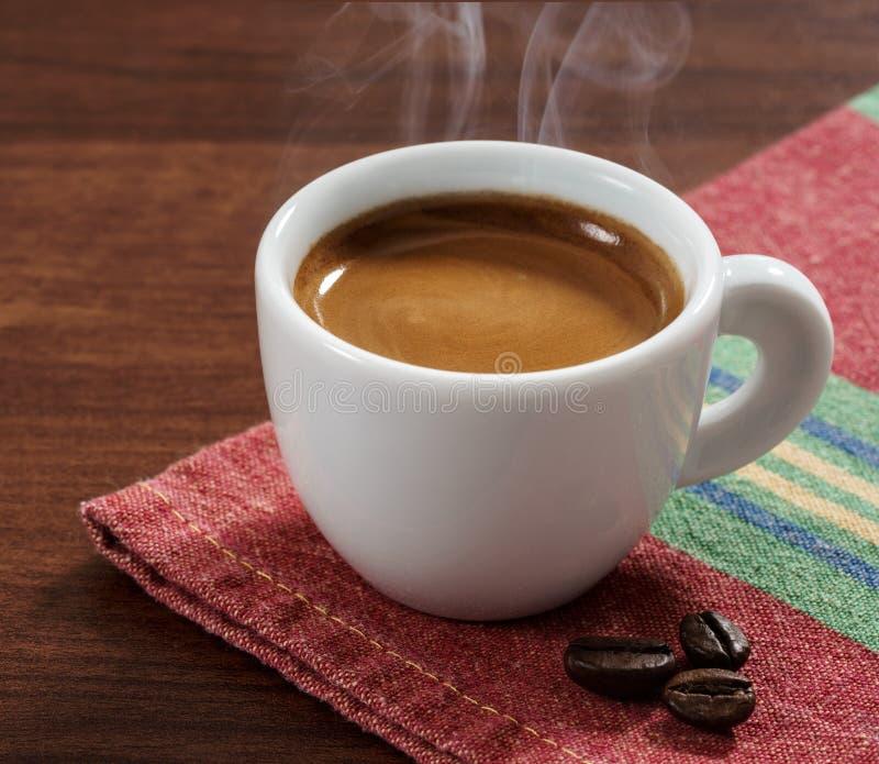 Конец-вверх эспрессо кофе стоковые изображения rf