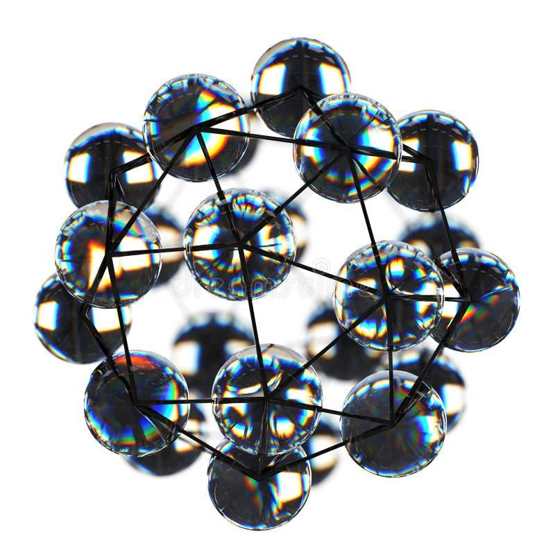 Конец-вверх nanostructure сделанного graphene иллюстрация вектора