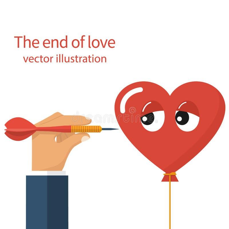 Конец влюбленности, концепции бесплатная иллюстрация