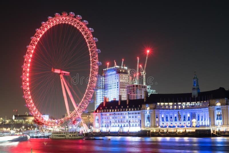 Конец глаза Лондона вверх по долгой выдержке стоковая фотография rf