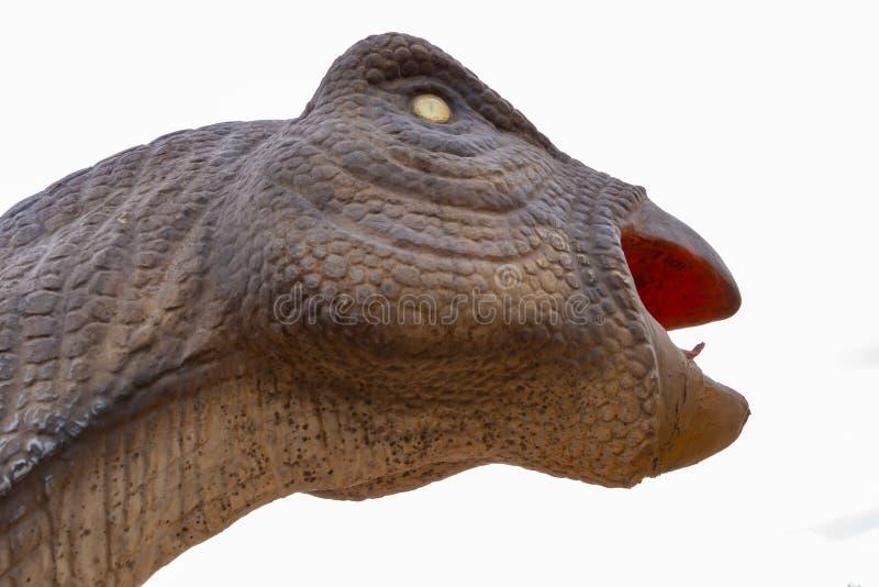 Конец головы динозавра вверх стоковые фотографии rf