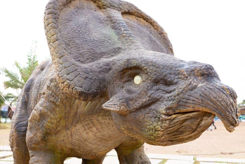 Конец головы динозавра вверх стоковое фото rf