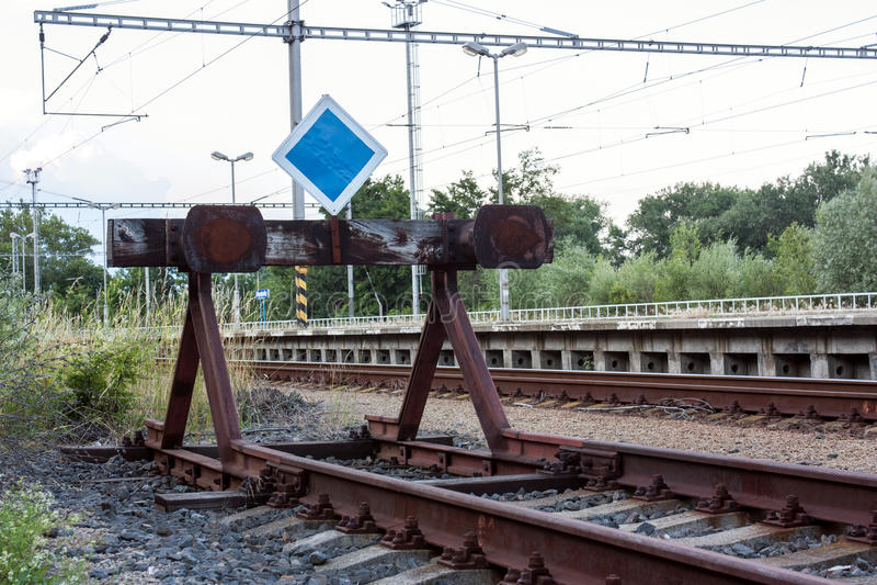Конец линии железной дороги стоковое фото rf