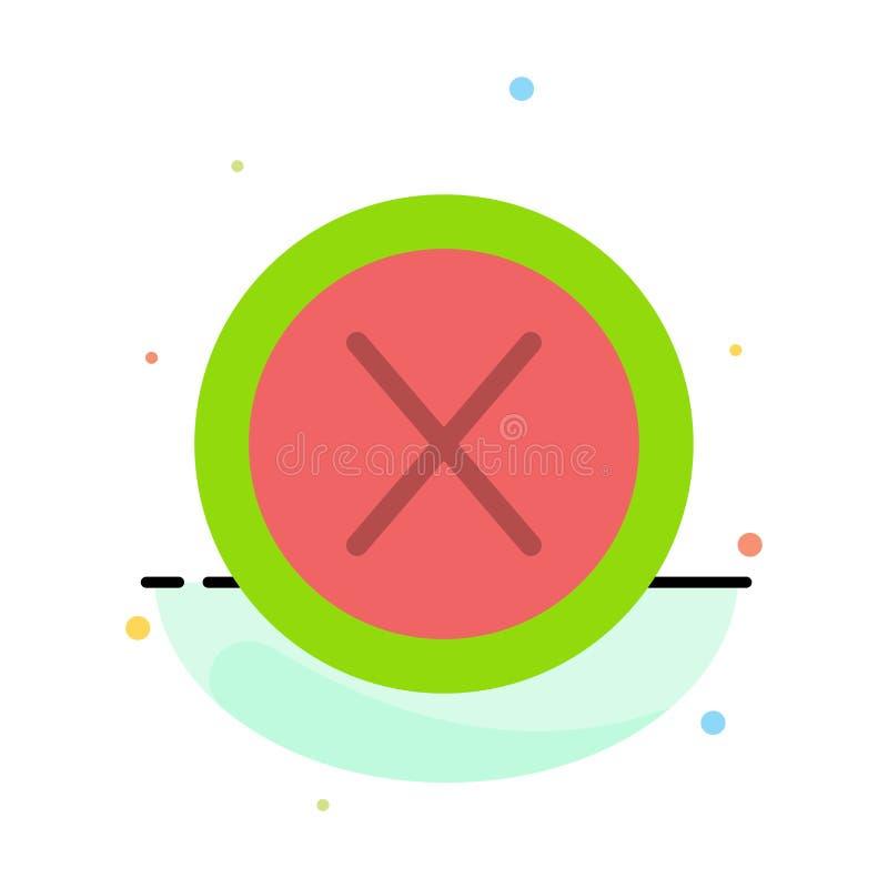 Конец, крест, интерфейс, не, шаблон значка цвета конспекта потребителя плоский иллюстрация вектора