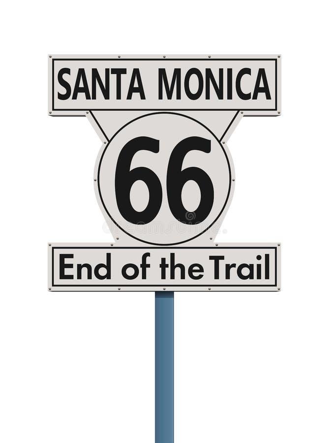 Конец маршрута 66 дорожного знака следа иллюстрация вектора