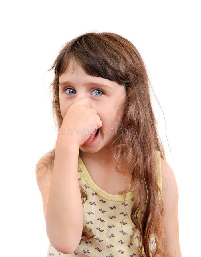 Конец маленькой девочки нос стоковое изображение