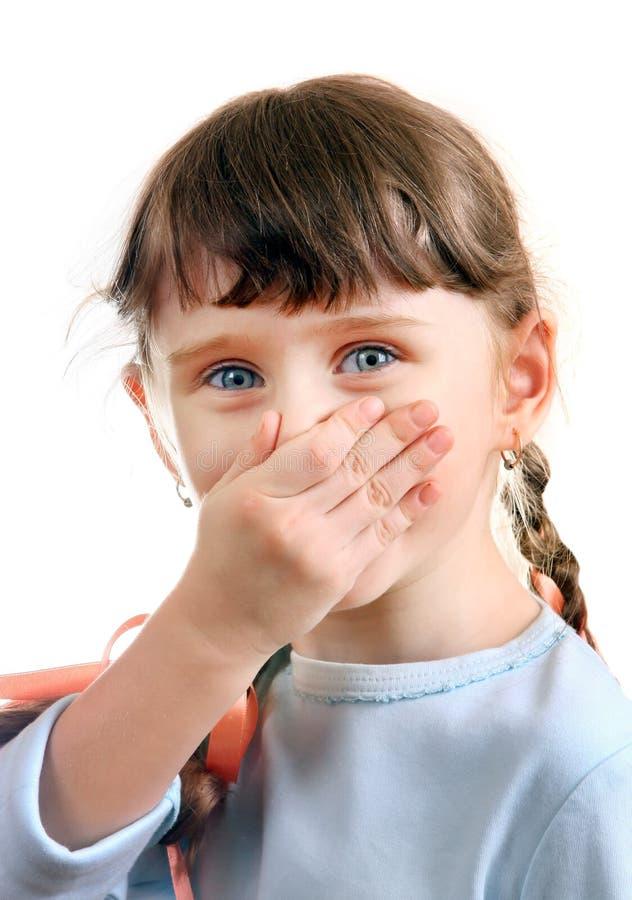 Конец маленькой девочки нос стоковые изображения