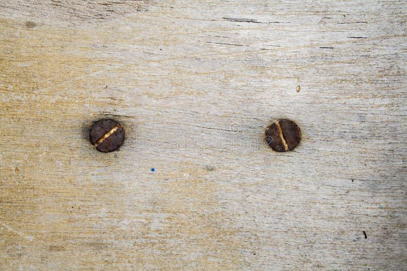 Конец ногтя предпосылки старый деревянный поверхностный стоковое фото