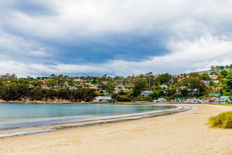 Конец пляжа Кингстона южный в Хобарте, Тасмании, Австралии стоковые фото