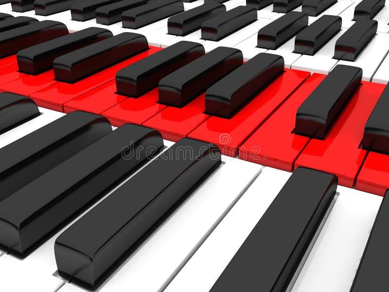 конец пользуется ключом рояль вверх бесплатная иллюстрация