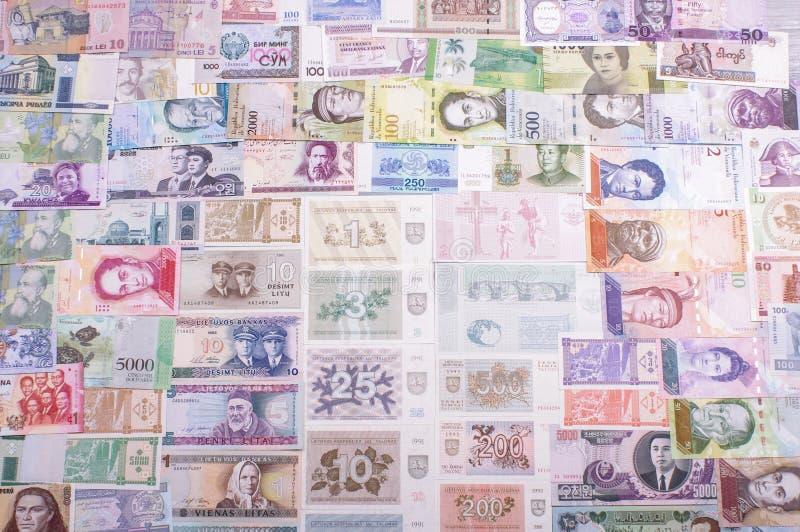 Конец собрания банкноты вверх стоковые фото