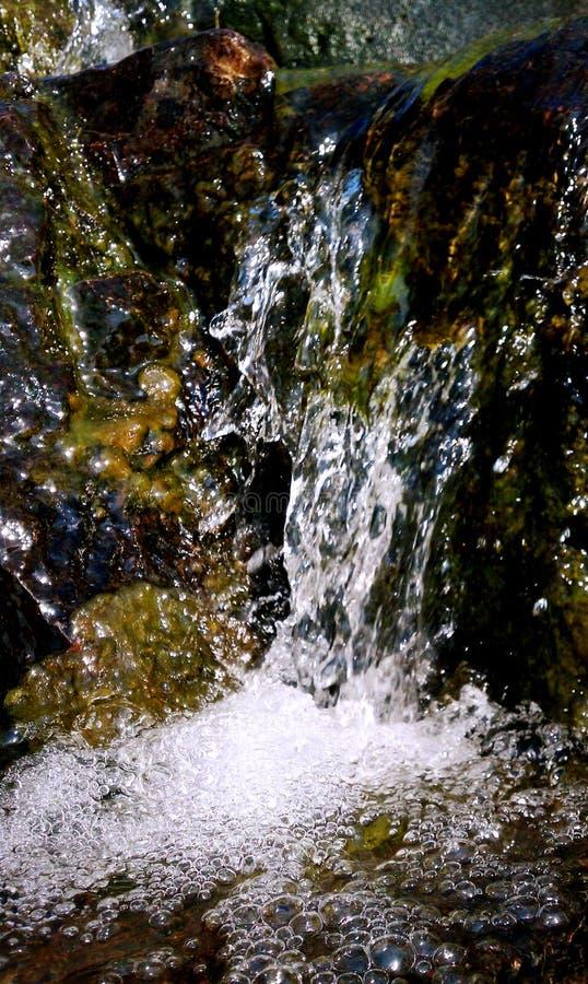 Конец Тома Sauk вверх капелек падения воды стоковые фотографии rf