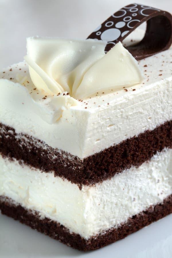 Конец торта печенья шоколада вверх по съемке стоковые изображения