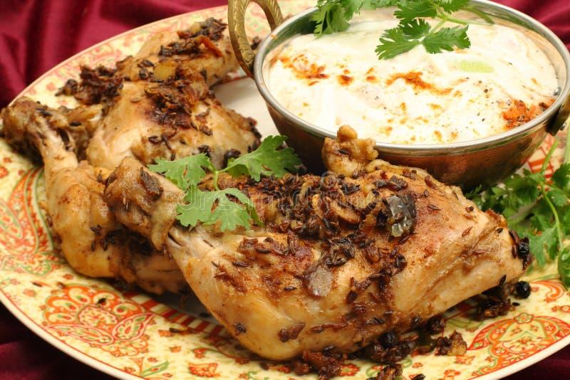 Конец цыпленка Jeera вверх стоковая фотография rf