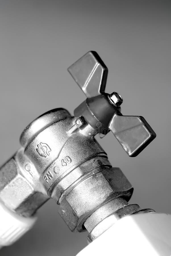 конец b вверх по клапану w стоковая фотография