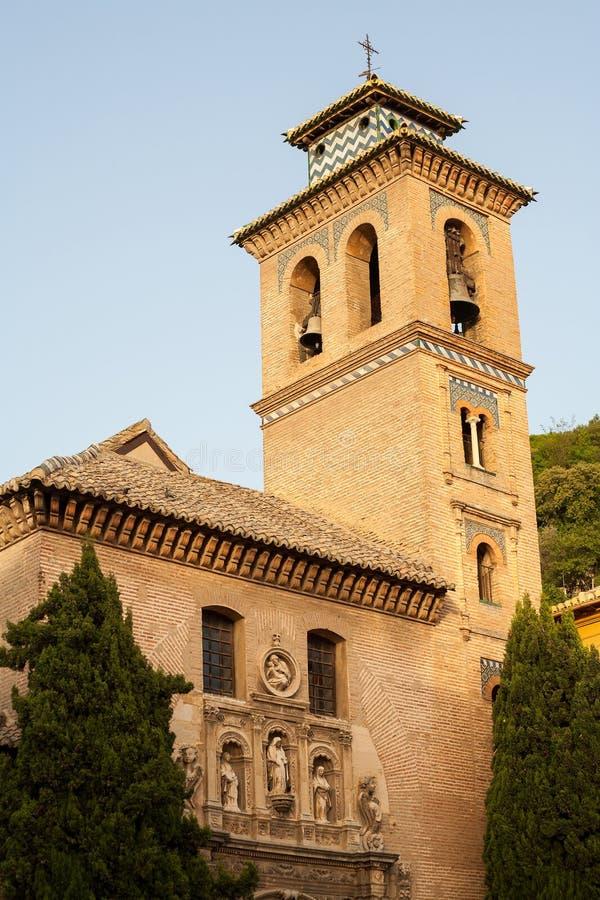 конец granada santa церков ana вверх стоковые фотографии rf