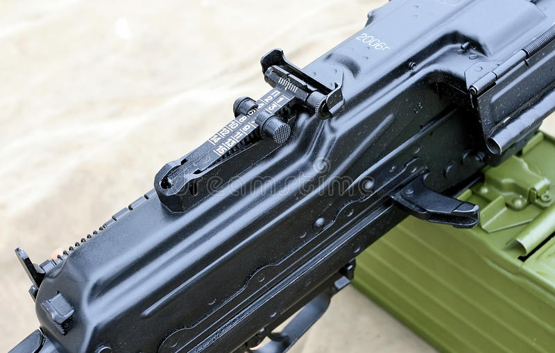 Конец Pecheneg пулемета вверх стоковые изображения