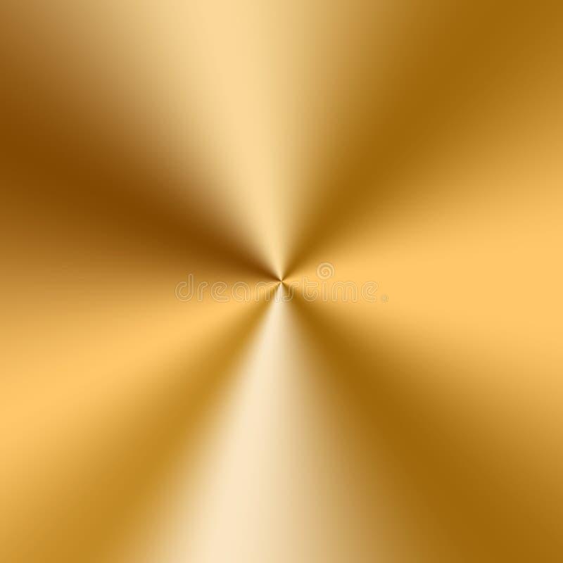 Конический золотой градиент иллюстрация вектора